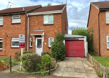 Thumbnail 2 bedroom semi-detached house for sale in Marsh Close, Leicester