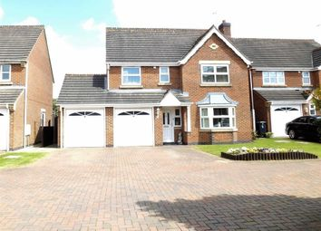 Thumbnail 4 bed detached house for sale in The Evergreens, Burton On Trent, Staffordshire