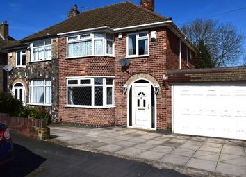 Thumbnail 3 bedroom semi-detached house for sale in Harrowgate Drive, Birstall, Leicester