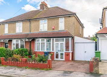 Thumbnail 3 bed semi-detached house for sale in Bushby Avenue, Broxbourne, Hertfordshire