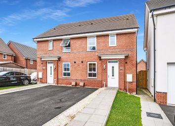 Thumbnail 3 bed semi-detached house for sale in Caversham Way, Yarnfield, Stone