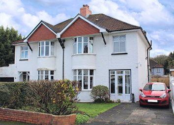 Thumbnail 3 bed semi-detached house for sale in Norton Avenue, Mumbles, Swansea