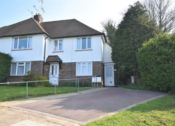 Thumbnail 3 bed flat for sale in Shawley Crescent, Epsom