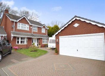 Thumbnail 4 bed detached house for sale in Croxley Drive, Cannock, Staffordshire