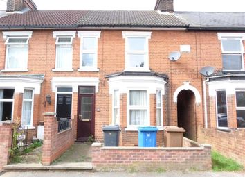 Thumbnail 3 bed terraced house to rent in Belle Vue Road, Ipswich