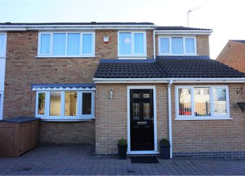 Thumbnail 4 bed semi-detached house for sale in Barnstaple Close, Wigston