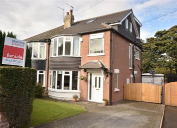 Thumbnail 4 bed semi-detached house for sale in Shadwell Walk, Moortown, Leeds, West Yorkshire