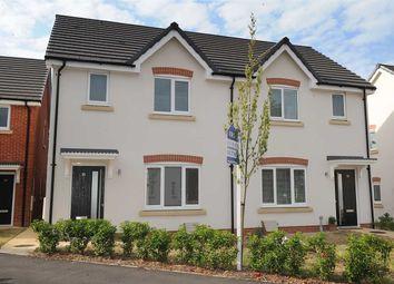 Thumbnail 3 bed semi-detached house for sale in Glazebrook Meadows, Glazebrook, Warrington