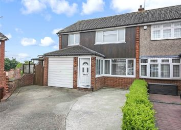 Thumbnail 4 bed semi-detached house for sale in Saxon Close, Northfleet, Kent