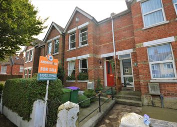 Thumbnail 3 bed terraced house for sale in Chart Road, Cheriton, Folkestone