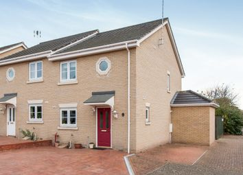Thumbnail 3 bed semi-detached house for sale in Otter Close, Stowmarket