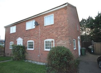 Thumbnail 1 bed semi-detached house to rent in Lindsay Road, Wigmore, Luton