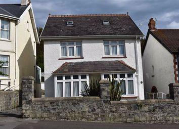 Thumbnail 3 bed detached house for sale in Castle Avenue, Mumbles, Swansea