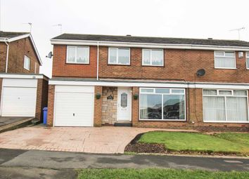 Thumbnail 4 bed semi-detached house for sale in Newlyn Drive, Parkside Dale, Cramlington