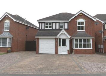 Thumbnail 4 bed detached house for sale in Greenfield Road, Measham, Swadlincote
