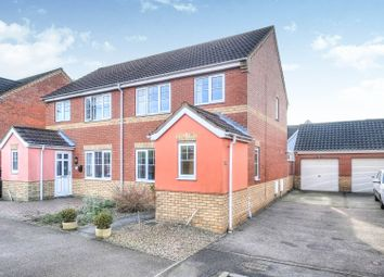 Thumbnail 3 bed semi-detached house for sale in Walsingham Drive, Norwich