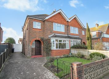 Thumbnail 3 bed semi-detached house for sale in Balcombe Avenue, Broadwater, Worthing