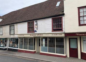 Thumbnail Restaurant/cafe for sale in Apicius, 23, Stone Street, Cranbrook, Kent