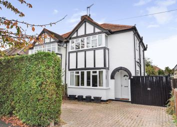 Thumbnail 3 bed semi-detached house for sale in Warren Road, New Haw, Addlestone