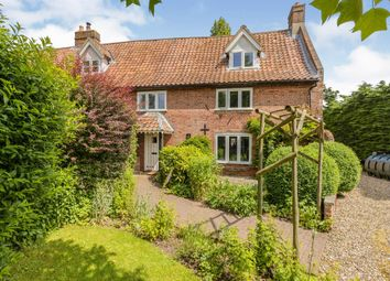 Thumbnail 3 bed semi-detached house for sale in Wymondham Road, Wicklewood, Wymondham
