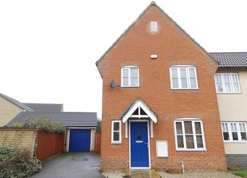 Thumbnail 3 bedroom semi-detached house for sale in Damselfly Road, Ipswich