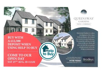 Thumbnail 3 bed link-detached house for sale in Queensway Gardens, Hayle, Cornwall