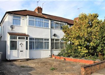 Thumbnail 4 bed semi-detached house to rent in De-Havilland Road, Edgware, Middlesex