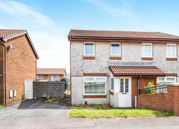 Thumbnail 2 bed semi-detached house for sale in Lon Enfys, Llansamlet, Swansea
