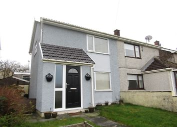 Thumbnail 2 bed semi-detached house for sale in Heol Dulais, Birchgrove, Swansea, City And County Of Swansea.
