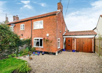 Thumbnail 3 bed cottage for sale in The Green, Runhall, Norwich