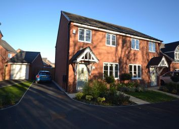 Thumbnail 3 bed semi-detached house for sale in Volans Drive, Westbrook, Warrington