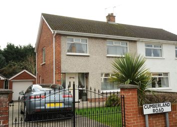 Thumbnail 3 bed semi-detached house for sale in Cumberland Road, Dundonald, Belfast