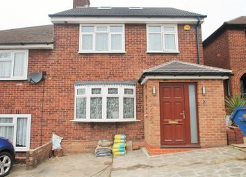 Thumbnail 4 bed semi-detached house for sale in Kingshill Avenue, Collier Row, Romford