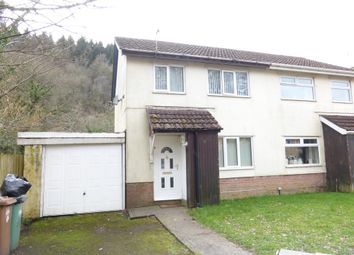 Thumbnail 3 bed semi-detached house for sale in Dan Y Darren, Llanbradach, Caerphilly