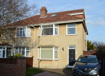 Thumbnail 4 bed semi-detached house for sale in Shaftesbury Road, Milton, Weston-Super-Mare