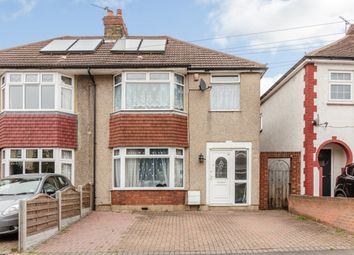 Thumbnail 3 bed semi-detached house for sale in Hedge Place Road, Greenhithe, Kent