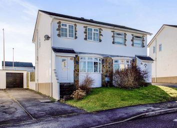 Thumbnail 3 bed semi-detached house for sale in Fox Hollows, Brackla, Bridgend