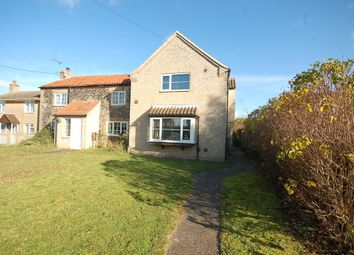 Thumbnail 3 bed semi-detached house for sale in The Street, Beck Row, Bury St. Edmunds