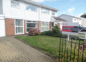 Thumbnail 3 bed semi-detached house to rent in Greenfield Gardens, Pentrebach