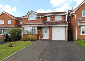 Thumbnail 4 bed detached house for sale in Yarner Close, Milking Bank, Dudley