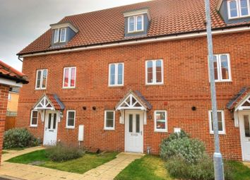 Thumbnail 3 bed town house for sale in Willowcroft Way, Cringleford Norwich