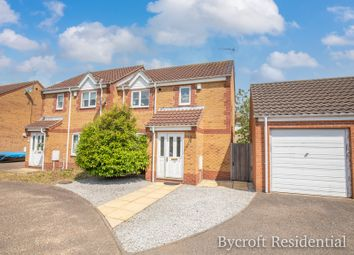 Thumbnail 2 bed semi-detached house for sale in Caraway Drive, Bradwell, Great Yarmouth