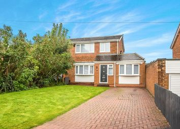Thumbnail 4 bed semi-detached house for sale in Newton Close, Dumpling Hall, Newcastle Upon Tyne