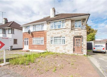 Thumbnail 3 bed semi-detached house for sale in Chapman Crescent, Kenton, Harrow, Middlesex