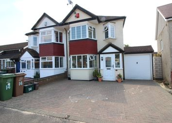 Thumbnail 3 bed semi-detached house for sale in Amesbury Close, Worcester Park