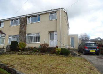 Thumbnail 3 bed semi-detached house for sale in Woodside Avenue, Litchard, Bridgend