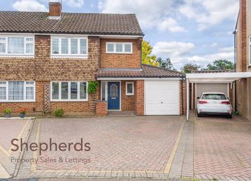 Thumbnail 3 bed semi-detached house for sale in Tudor Rise, Broxbourne, Hertfordshire