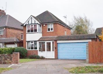 Thumbnail 3 bed detached house for sale in Woodcote Road, Birmingham