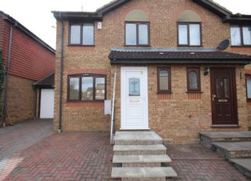 Thumbnail 3 bed semi-detached house to rent in Pomery Grove, Bushmead, Luton