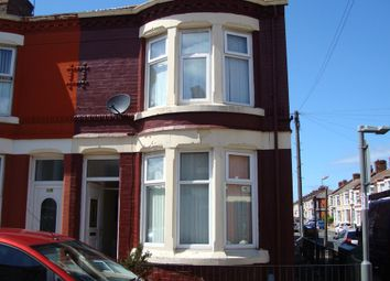 Thumbnail 3 bed end terrace house to rent in Willaston Road, Liverpool